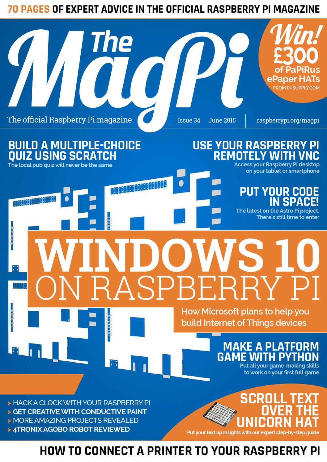 Magpi34 By Khuzthul Issuu Import Wiringpi Error
