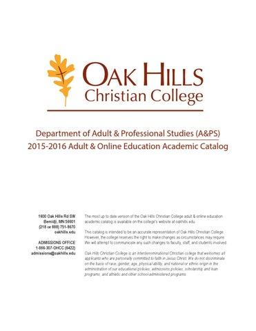 Online Academic Catalog 2015-2016