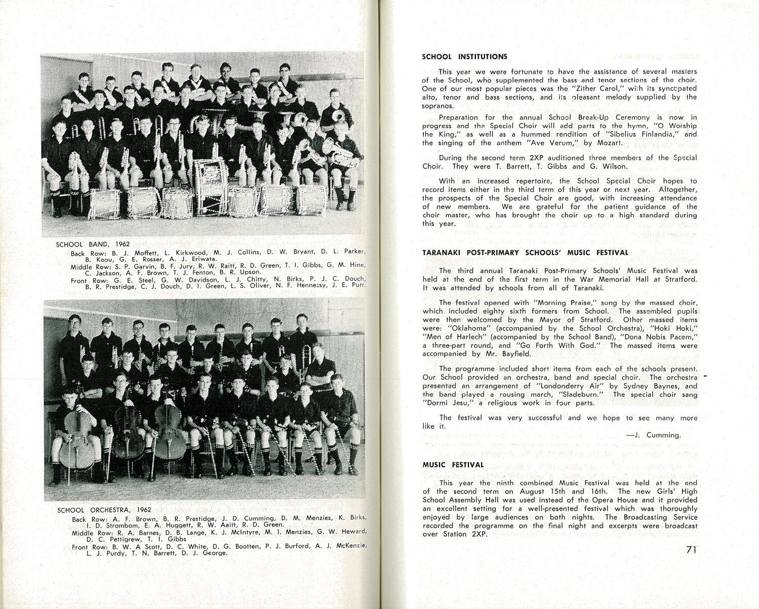 1962 The Taranakian Vol  51 No  1 December by New Plymouth Boys