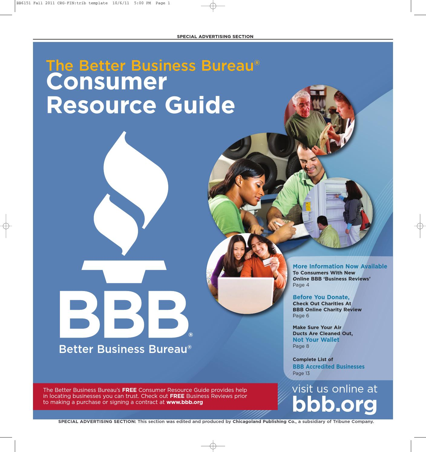 28ced59ca48 Consumer Resource Guide - Fall 2011 by bbbchicago - issuu