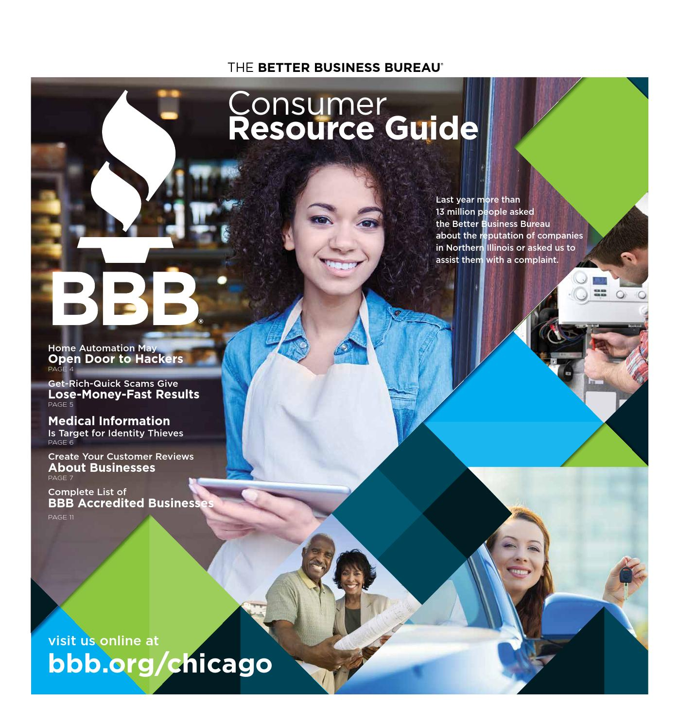 22f0841f79f1 Consumer Resource Guide - Fall 2015 by bbbchicago - issuu