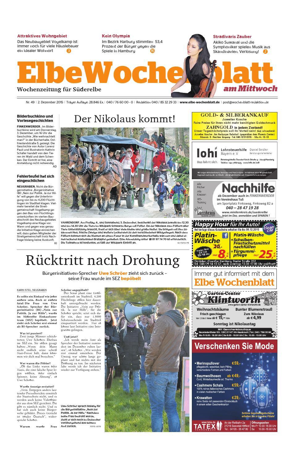 Süderelbe KW49-2015 by Elbe Wochenblatt Verlagsgesellschaft mbH & Co ...