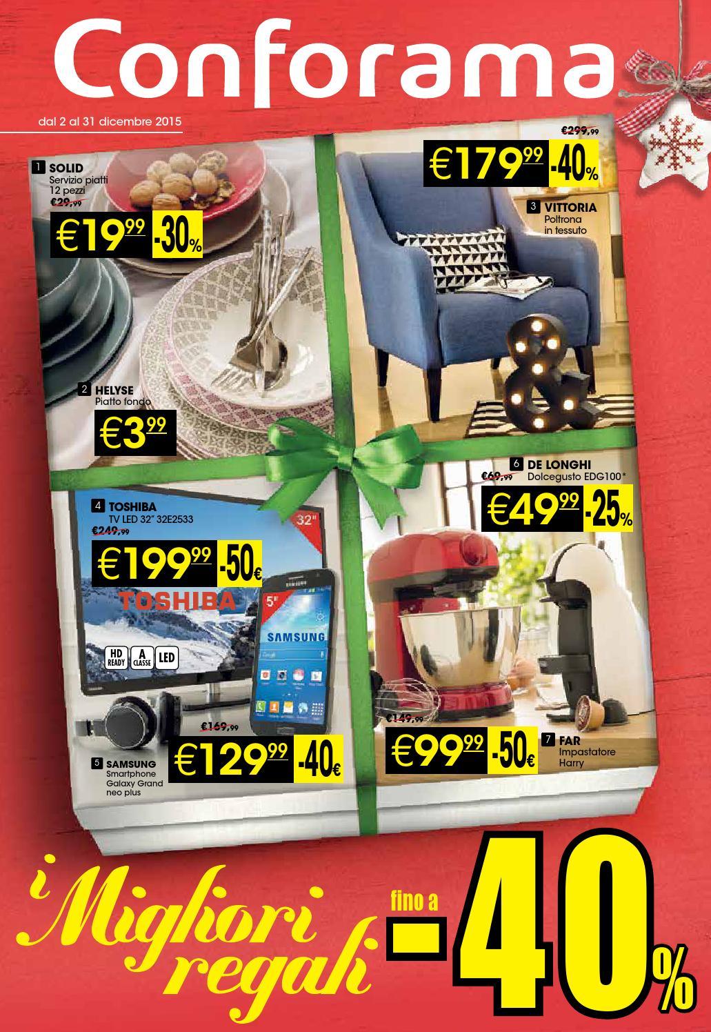conforama volantino 2 31dicembre2015 by catalogopromozioni. Black Bedroom Furniture Sets. Home Design Ideas