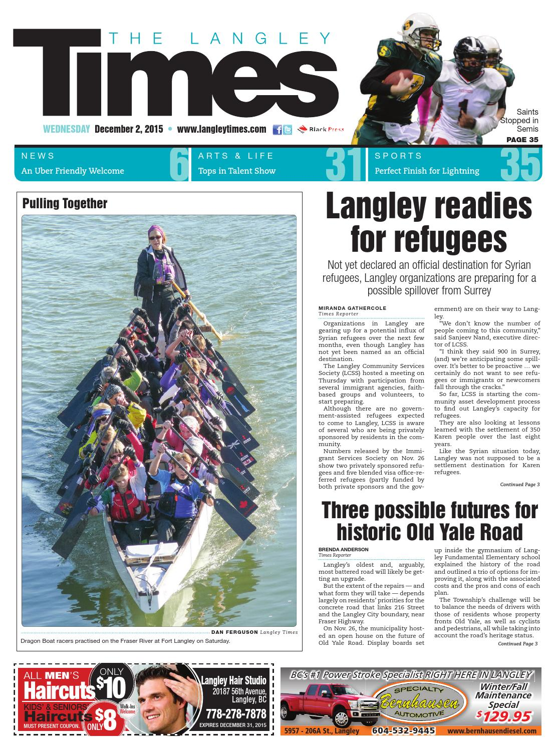 Langley Times December 02 2015 By Black Press Issuu