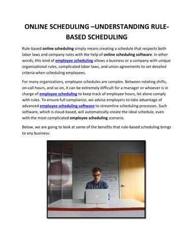 online scheduling understanding rule based scheduling by zip