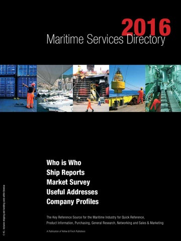 Maritme Services Directory 2016 By Yellow Finch Publishers Issuu