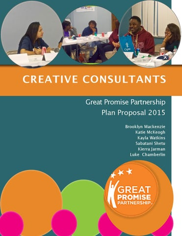 Creative consultants plan proposal by brooklyn mackenzie for Creative consulting firms nyc