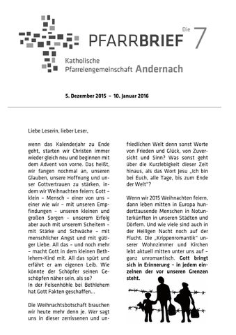 Dezember januar by Kath. Pfarreiengemeinschaft Andernach - issuu