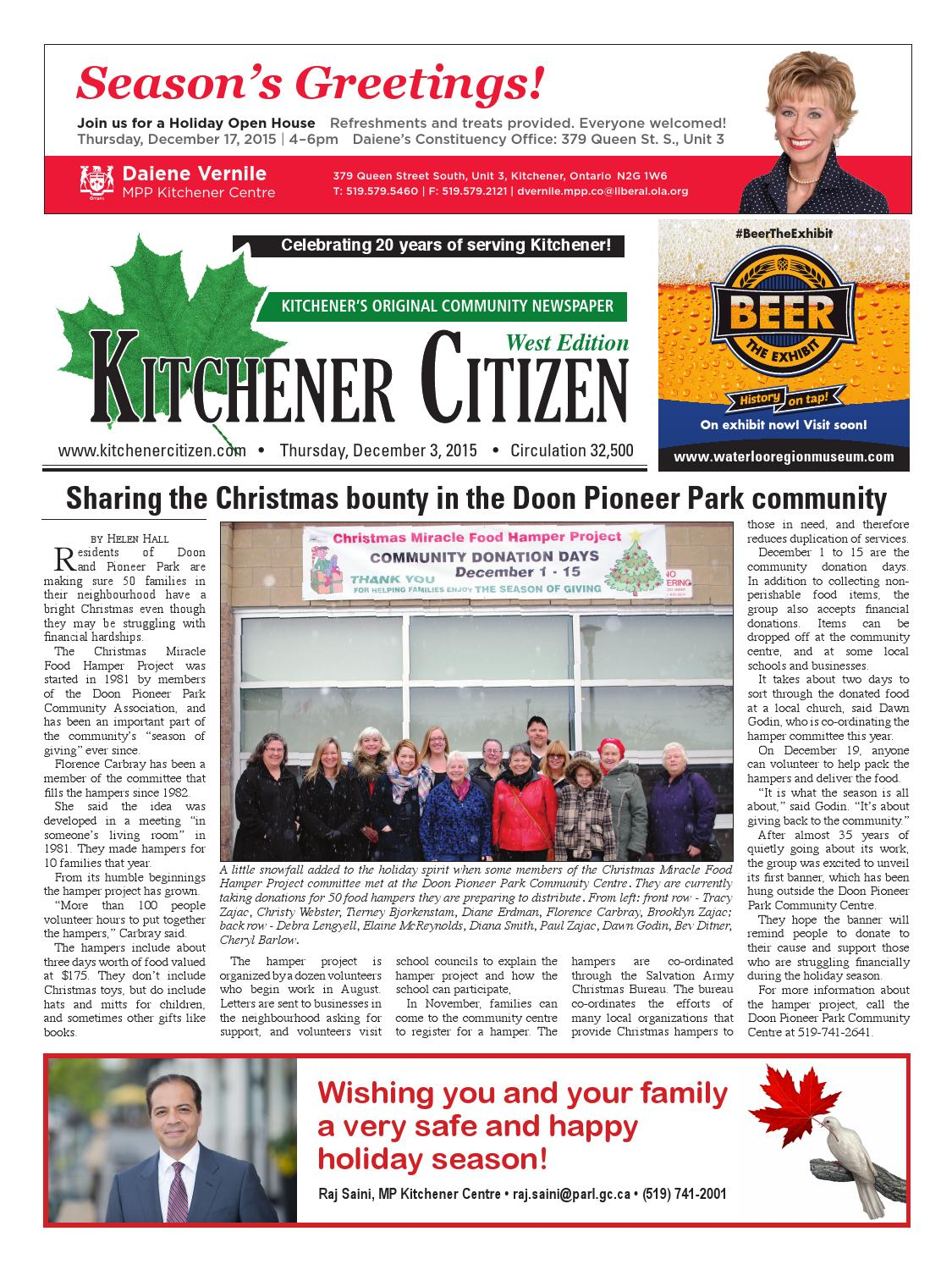 Kitchener Citizen - West Edition - December 2015 by Kitchener ...