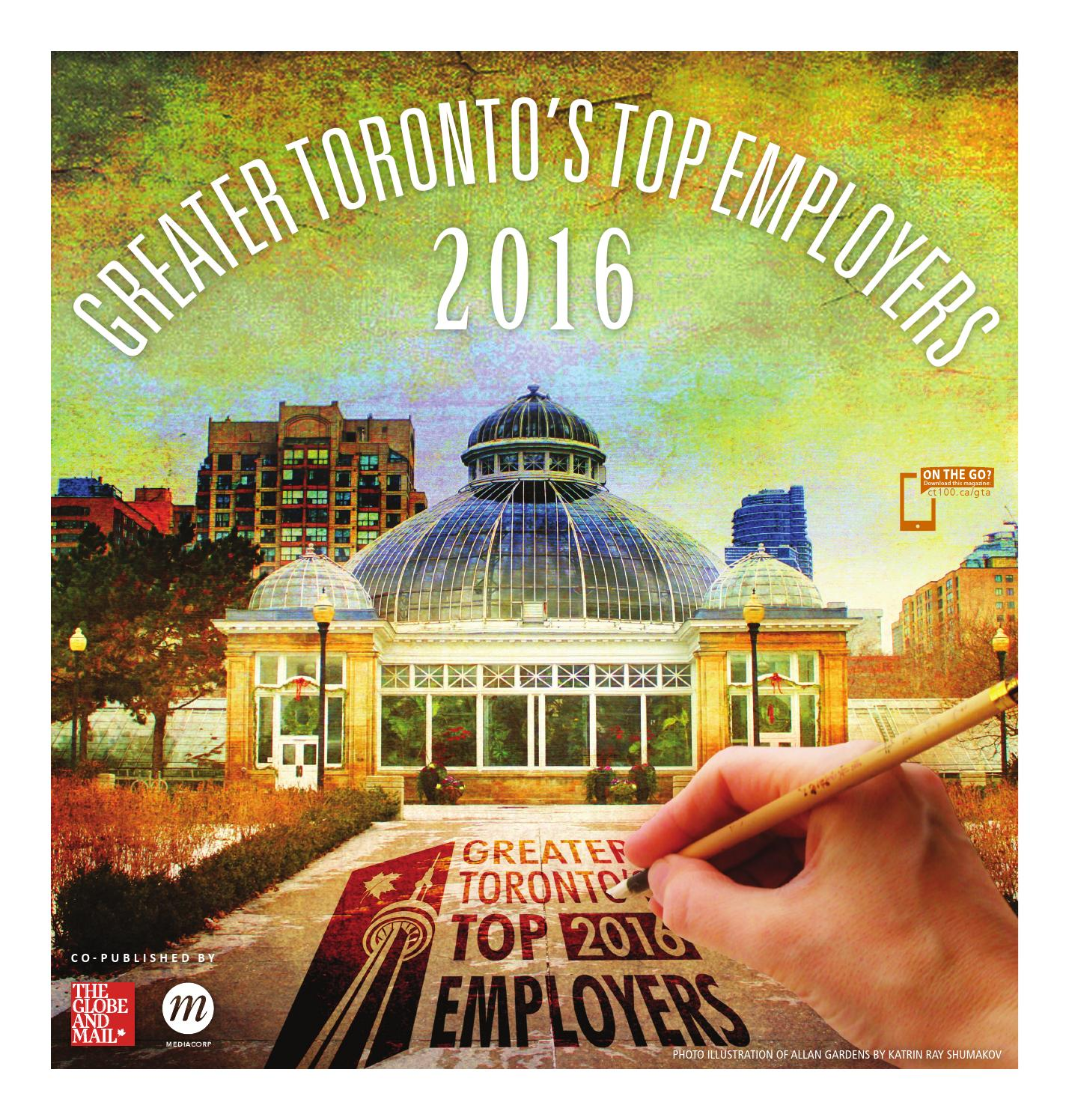 Greater Toronto Top Employers (2016) by Canada's Top 100 Employers