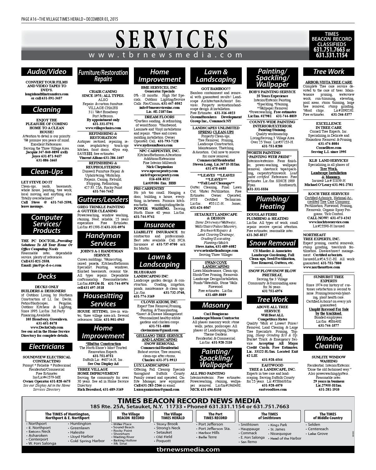 The Village Times Herald - December 3, 2015 by TBR News Media - issuu