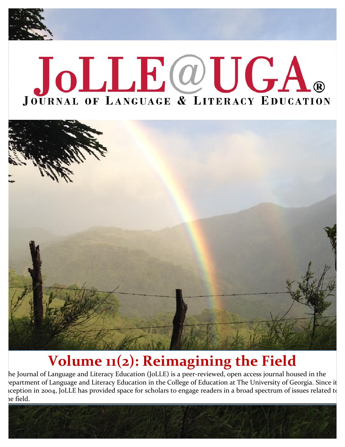 Volume 112 reimagining the field by journal language issuu fandeluxe Image collections
