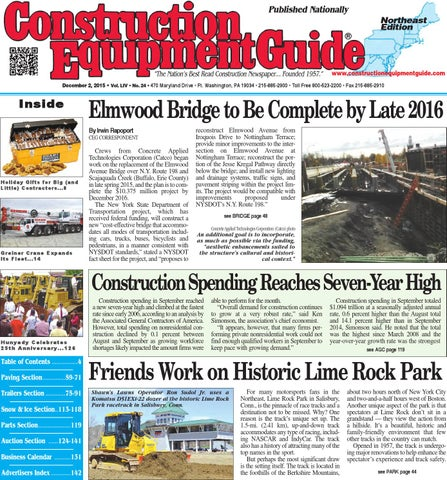 28257f003b6f Northeast 24 2015 by Construction Equipment Guide - issuu