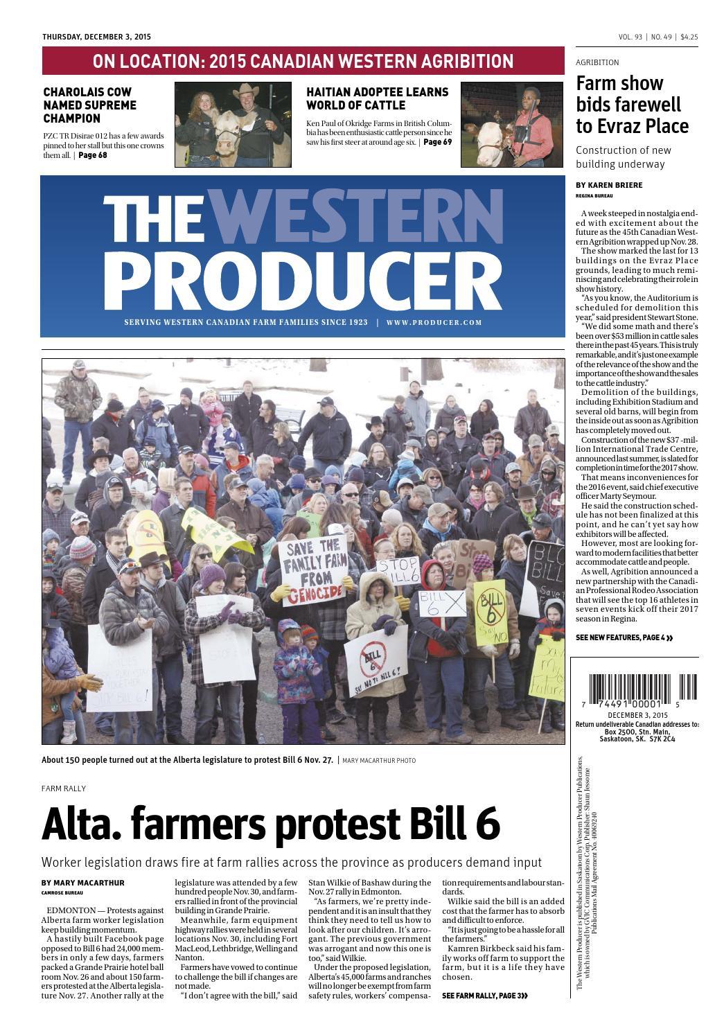 cdb46a66b6 The western producer december 3