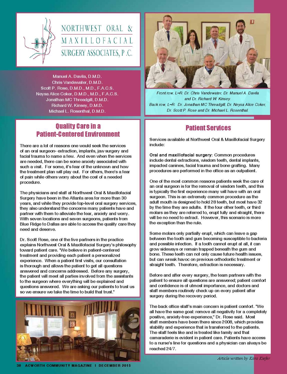 December 2015 Issue by Acworth Community Magazine - issuu