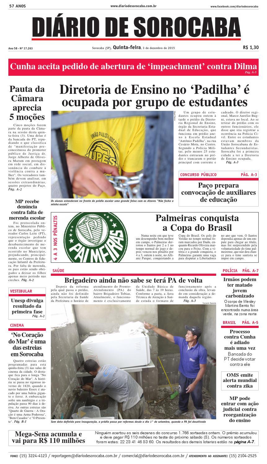 Edição de 3 de dezembro de 2015 by DIÁRIO DE SOROCABA - issuu 03b42b9c5c8f1
