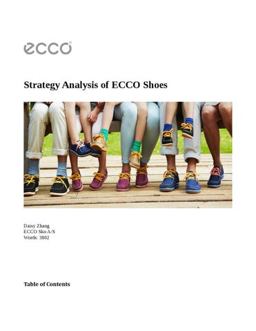 d9e4d8515 Strategic analysis of ecco shoes by Daisy Zhang - issuu