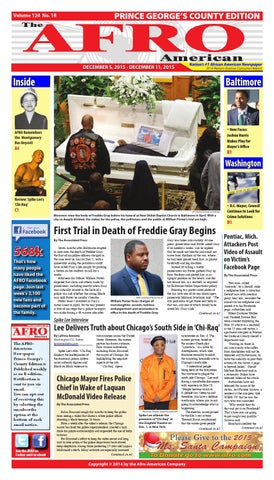 d3fe21a176f Prince Georges Afro American Newspaper December 5 2015 by The AFRO ...