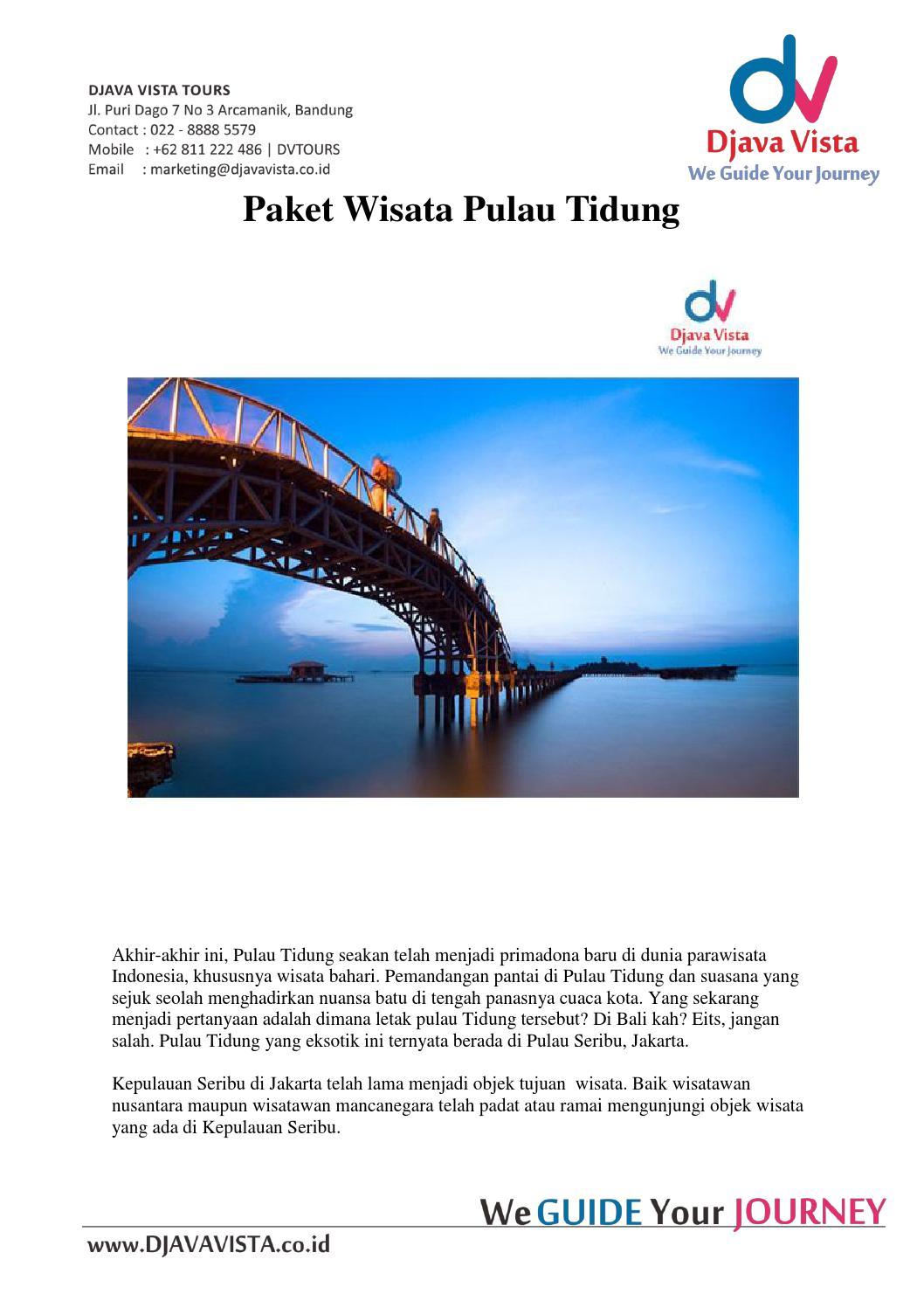 Paket Wisata Pulau Tidung 2d1n By Yoga Prayoga Issuu Tour