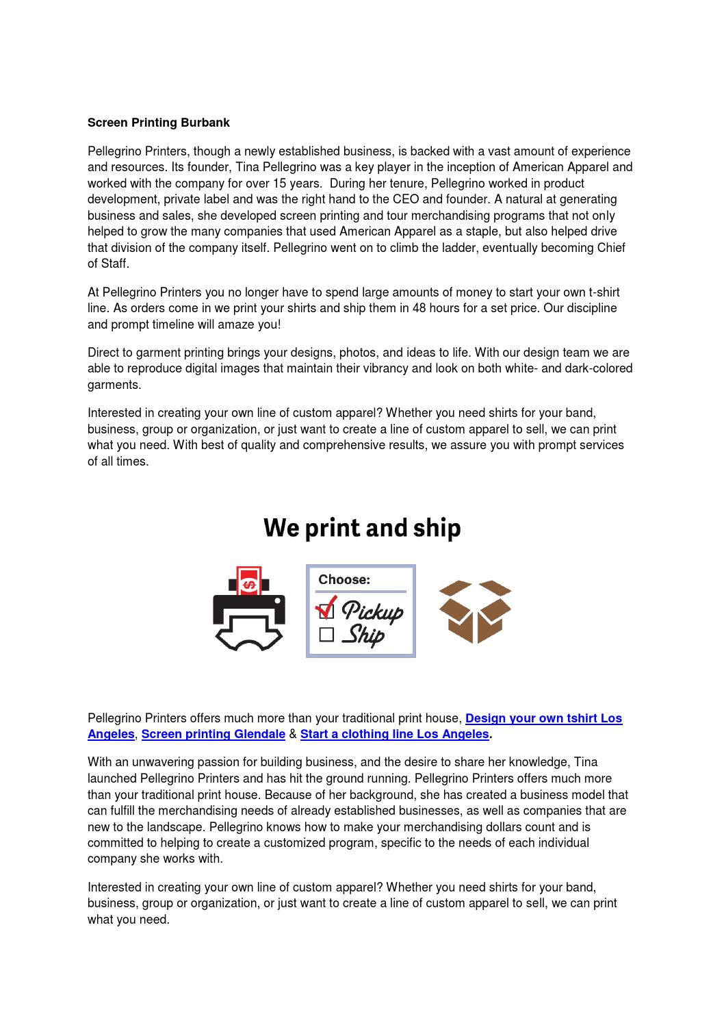 Screen Printing Burbank By Screenprinting Issuu