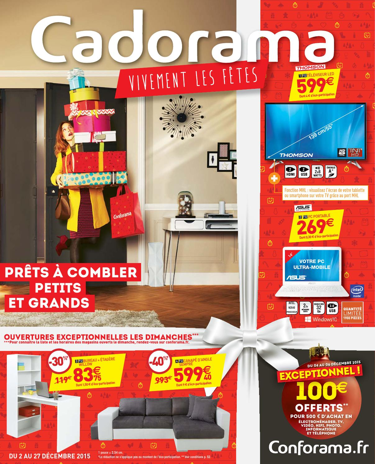 Conforama catalogue 2 27decembre2015 by promocatalogues for Canape conforama sempre