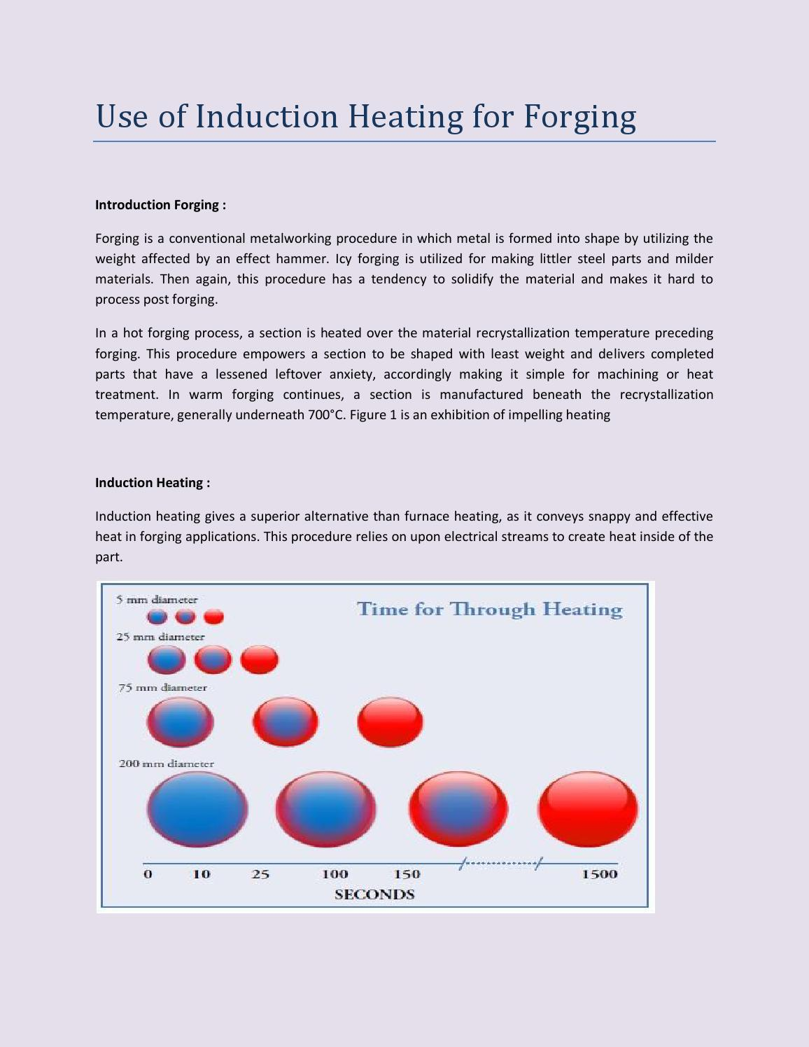 Use Of Induction Heating For Forging By Stead Fast Engineers Pvt Ltd Diagram Issuu