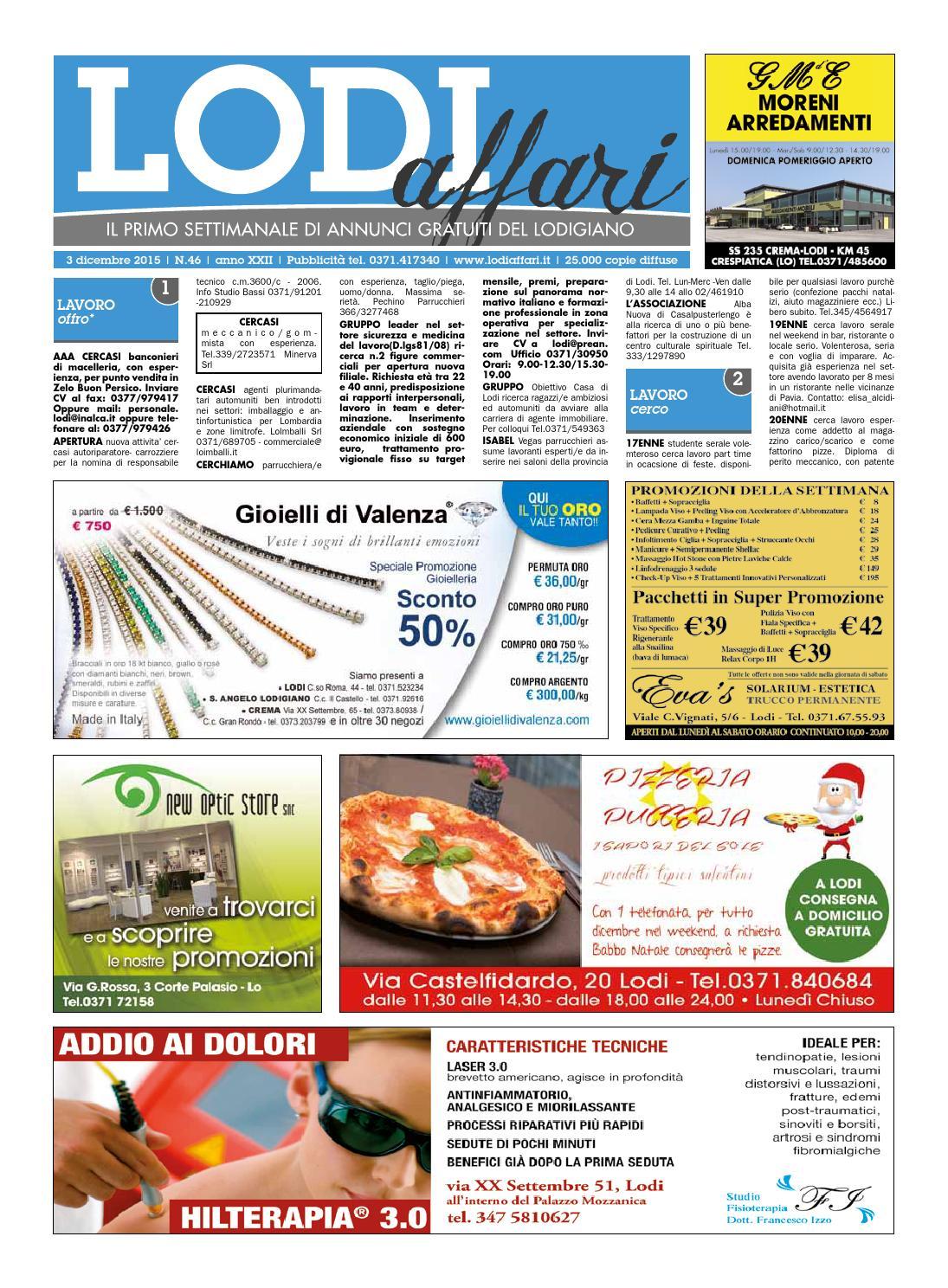 Lodi Affari 3 Dicembre By Lodi Affari Issuu