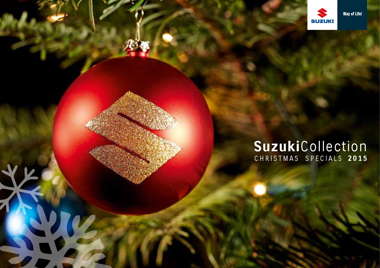 suzuki 2015 christmas collection by c reinhardt as issuu - 2015 Christmas Specials