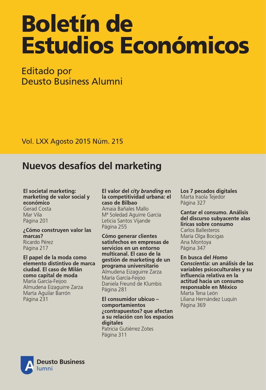 215 agosto 2015 by Deusto Business Alumni - issuu