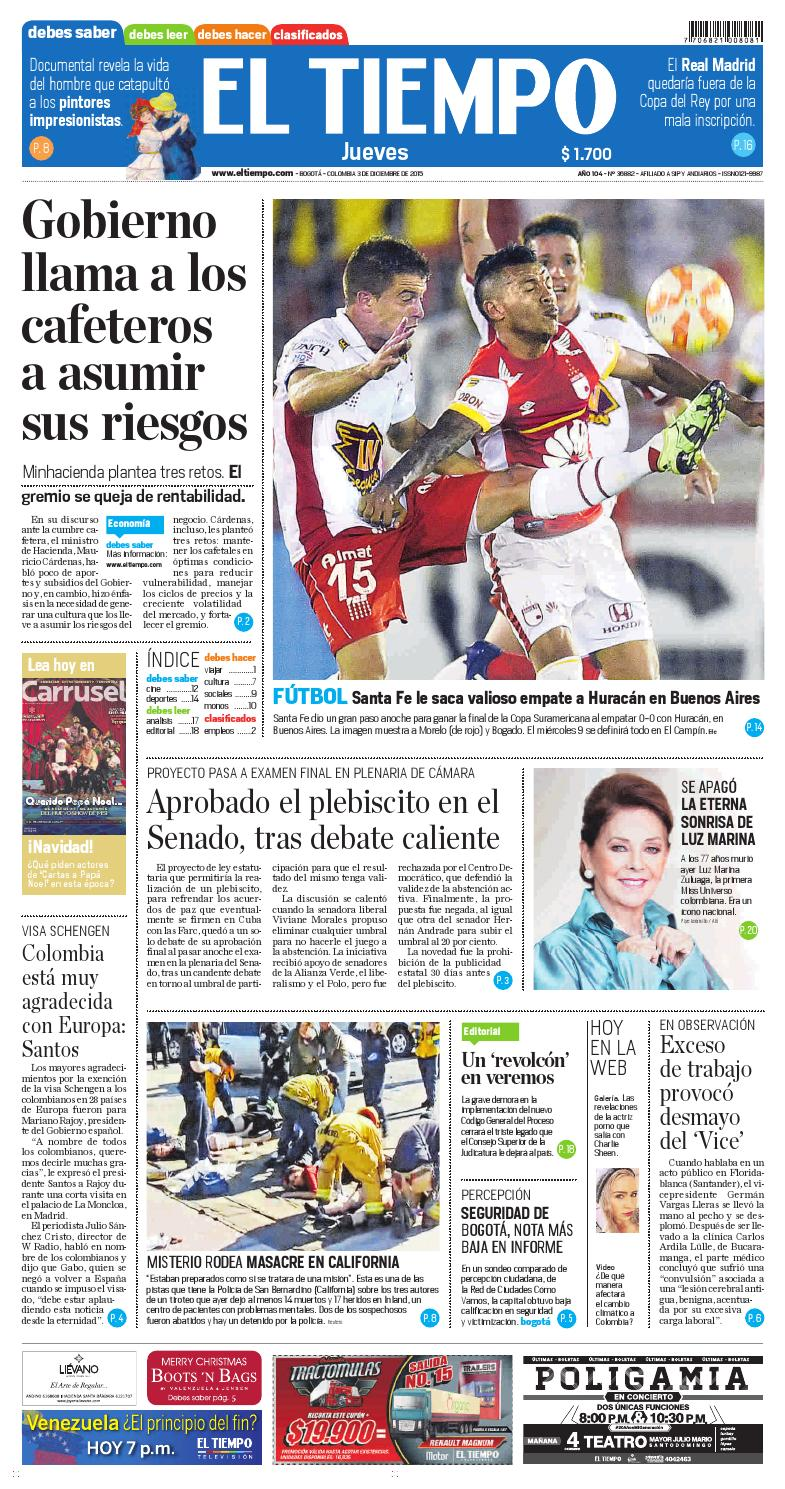EL TIEMPO 03/112/2015 by DIANA KARINA ANGARITA GARCIA - issuu