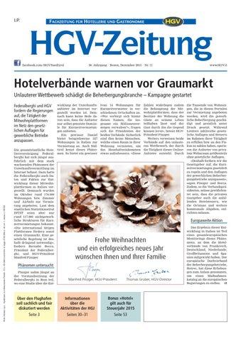 Dezember Ausgabe der HGV Zeitung by HGV Service
