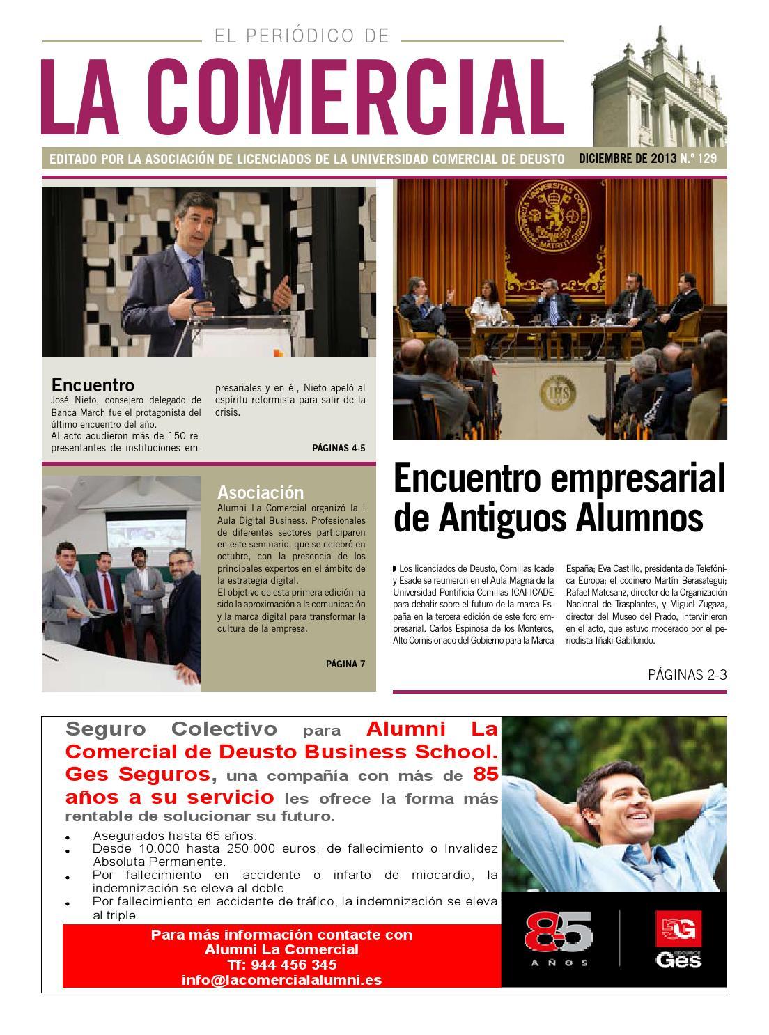 Periódico la Comecial 129 diciembre 2013 by Deusto Business Alumni ...
