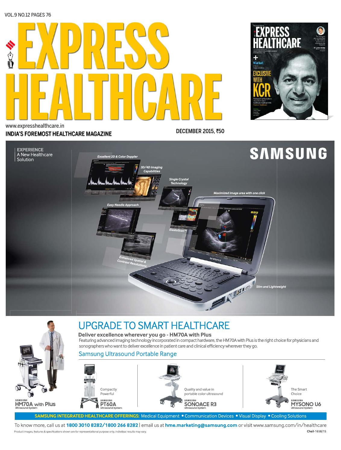 Express Healthcare (Vol 9, No 12) December, 2015 by Indian