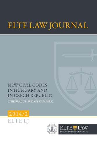 Elj 2014 2 web by ELTE Law Journal - issuu