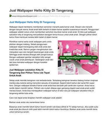 Tokojualwallpaper Com Jual Wallpaper Hello Kitty Di Tangerang By