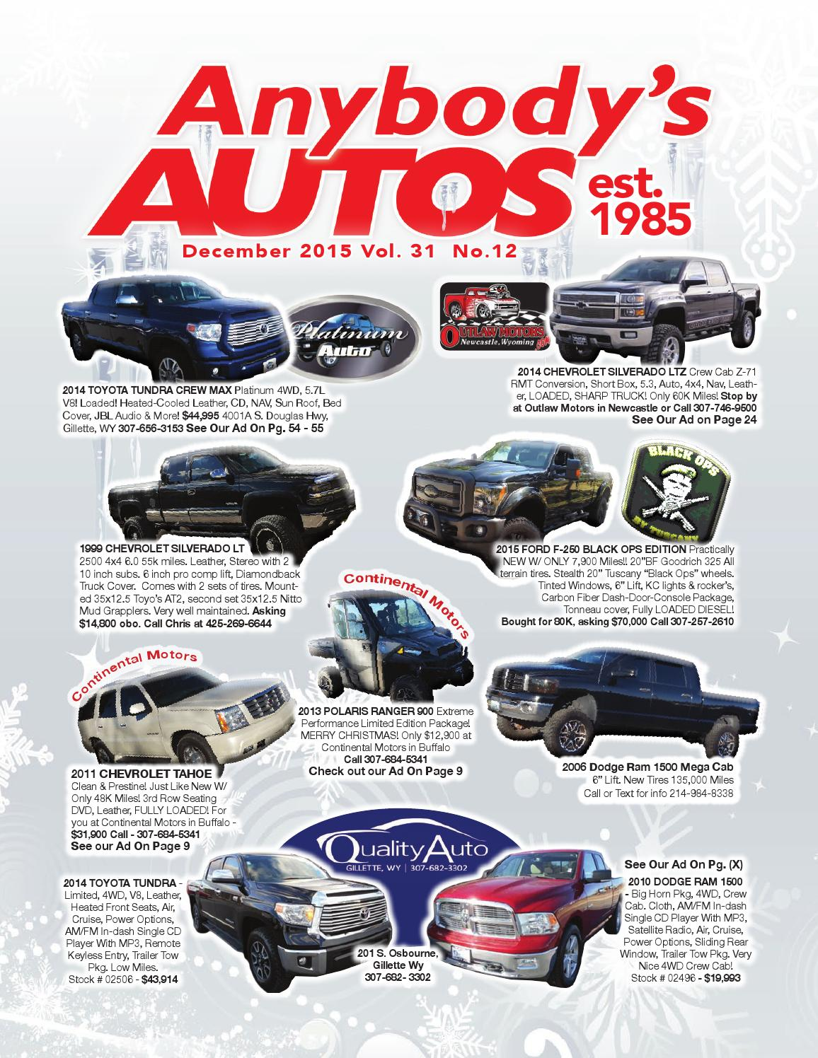 Anybody's Autos December 2015 by Anybodys Autos - issuu