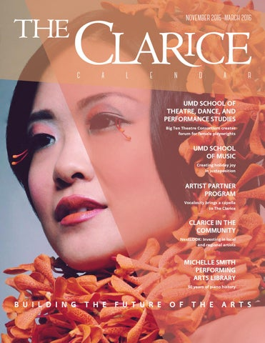 The Clarice Calendar November 2015 March 2016 By The Clarice Smith