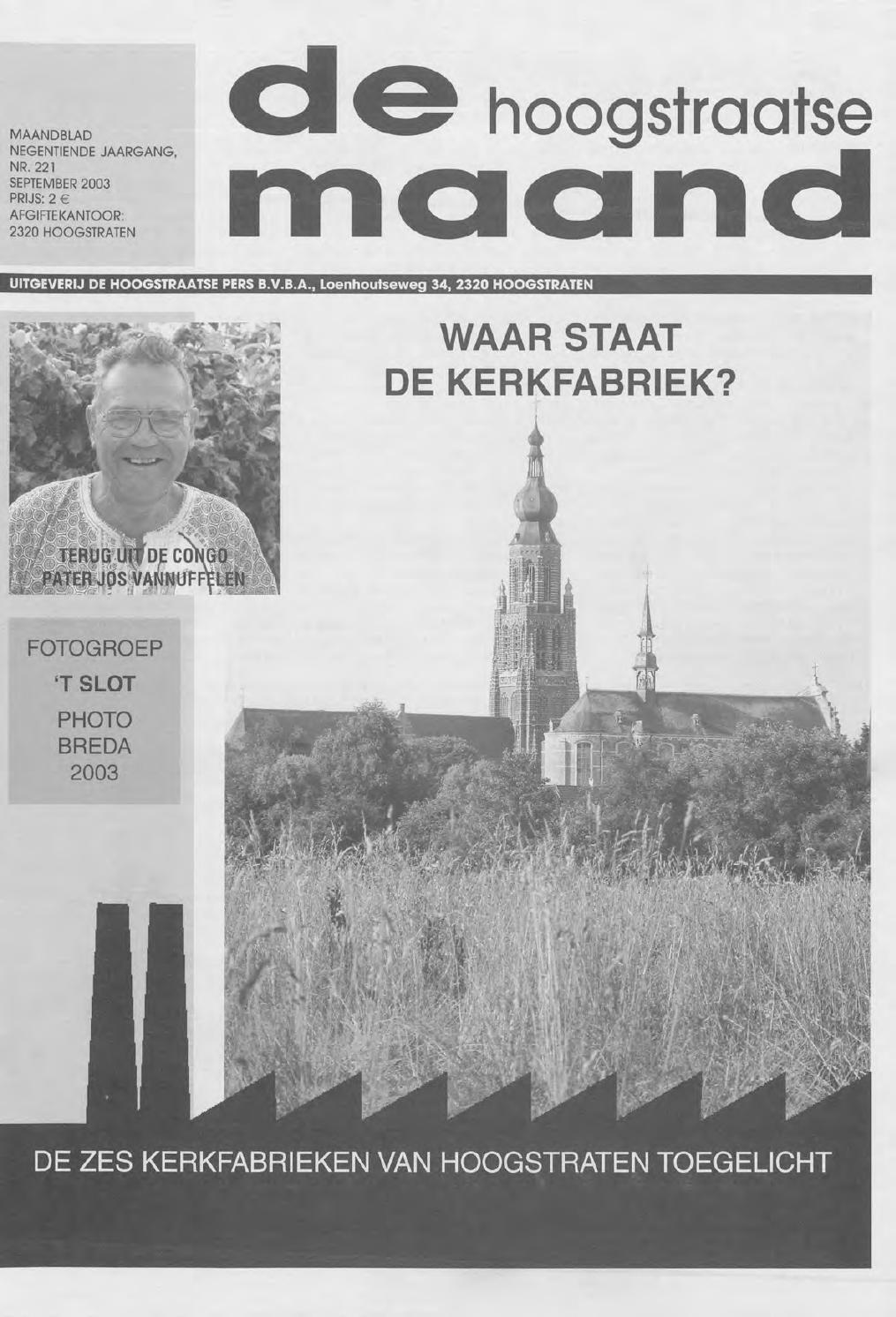 b3954815e72 september 2003 - De Hoogstraatse Maand by De Hoogstraatse Maand - issuu