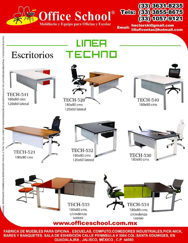 Catalago Techno officeschool by MUEBLES MOS SA DE CV - issuu