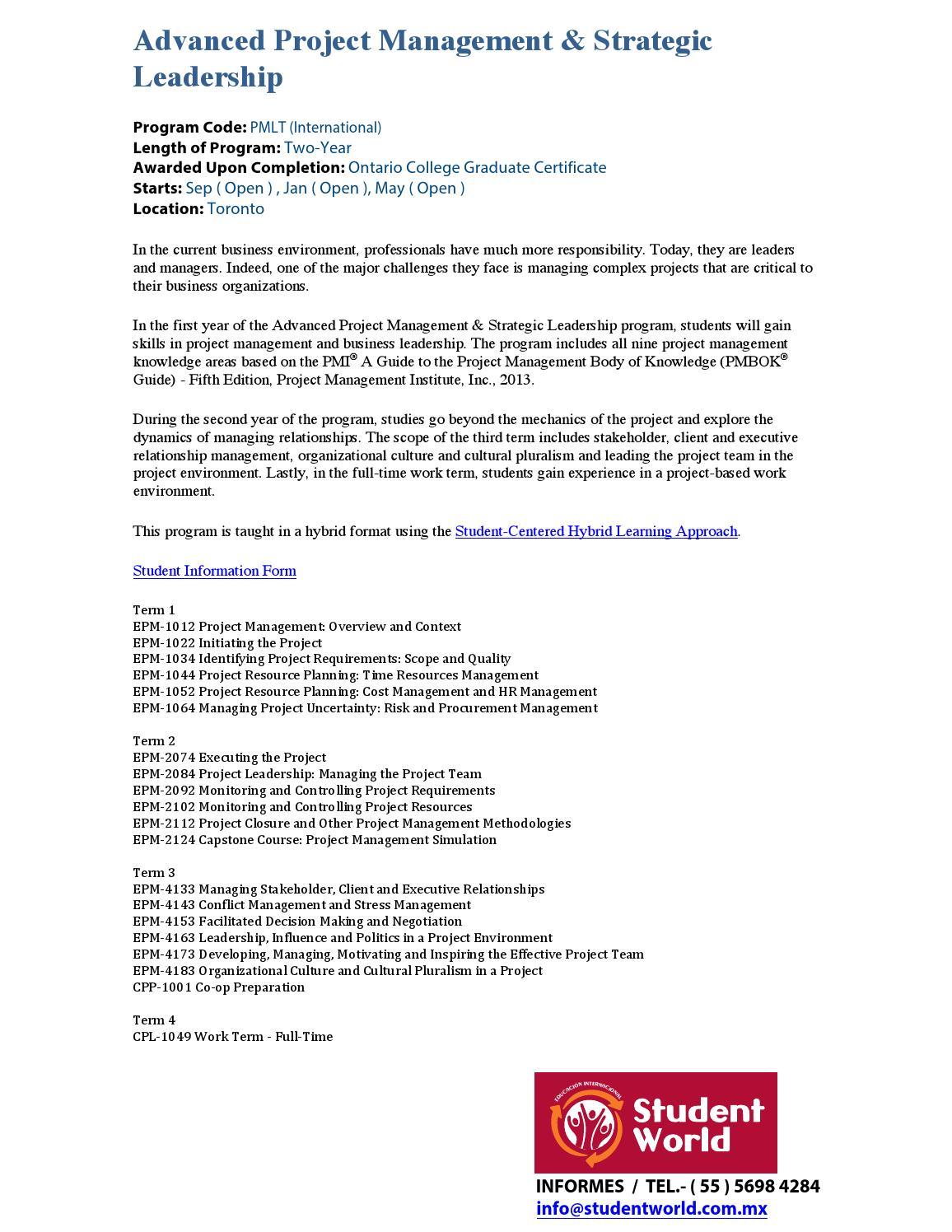 Becas Posgrados Lambton College 2016 By Student World Issuu
