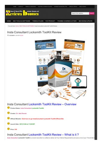 Insta Consultant Locksmith ToolKit Review by Kevin - issuu