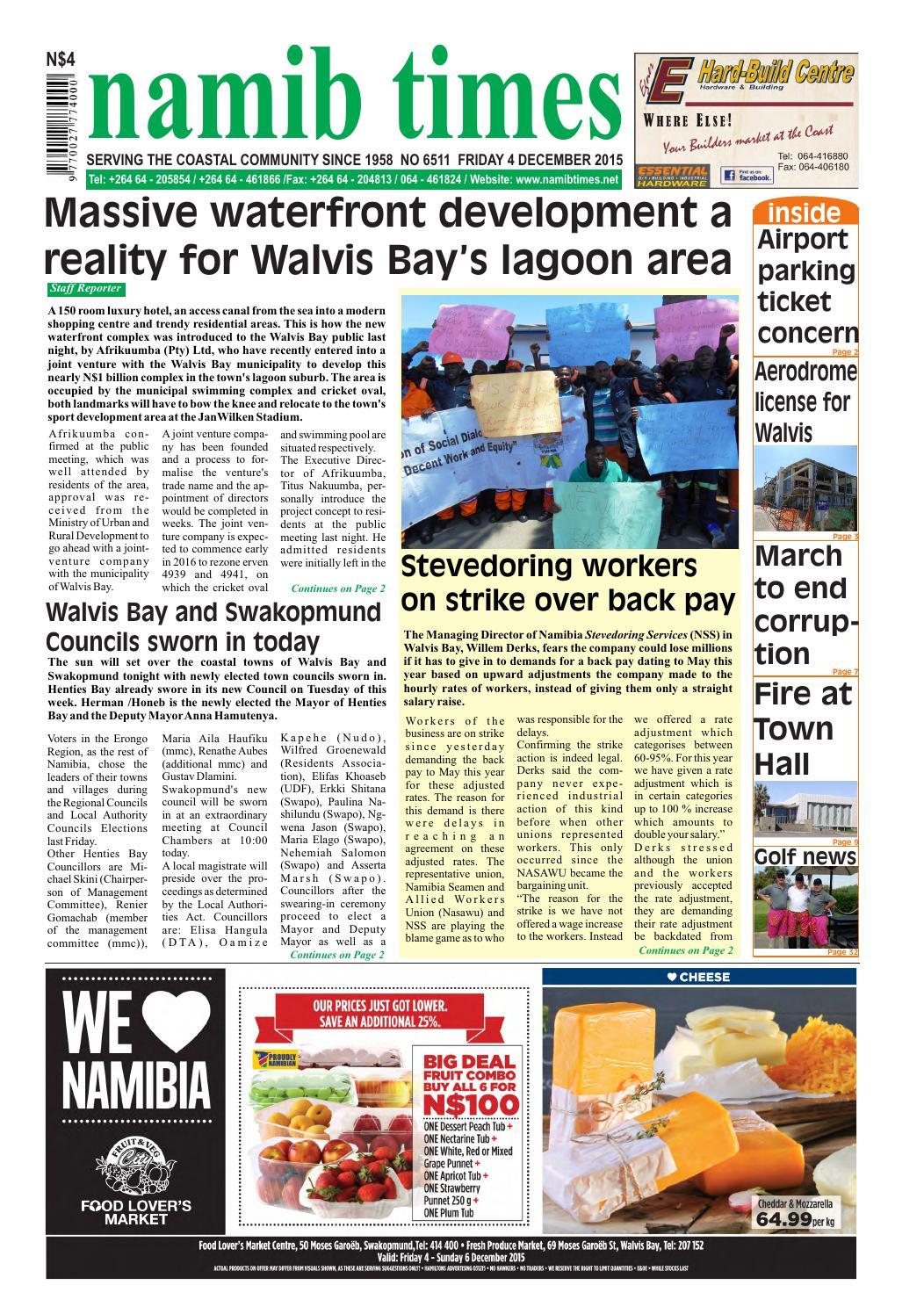 22 dec namib times e edition by Namib Times Virtual - issuu