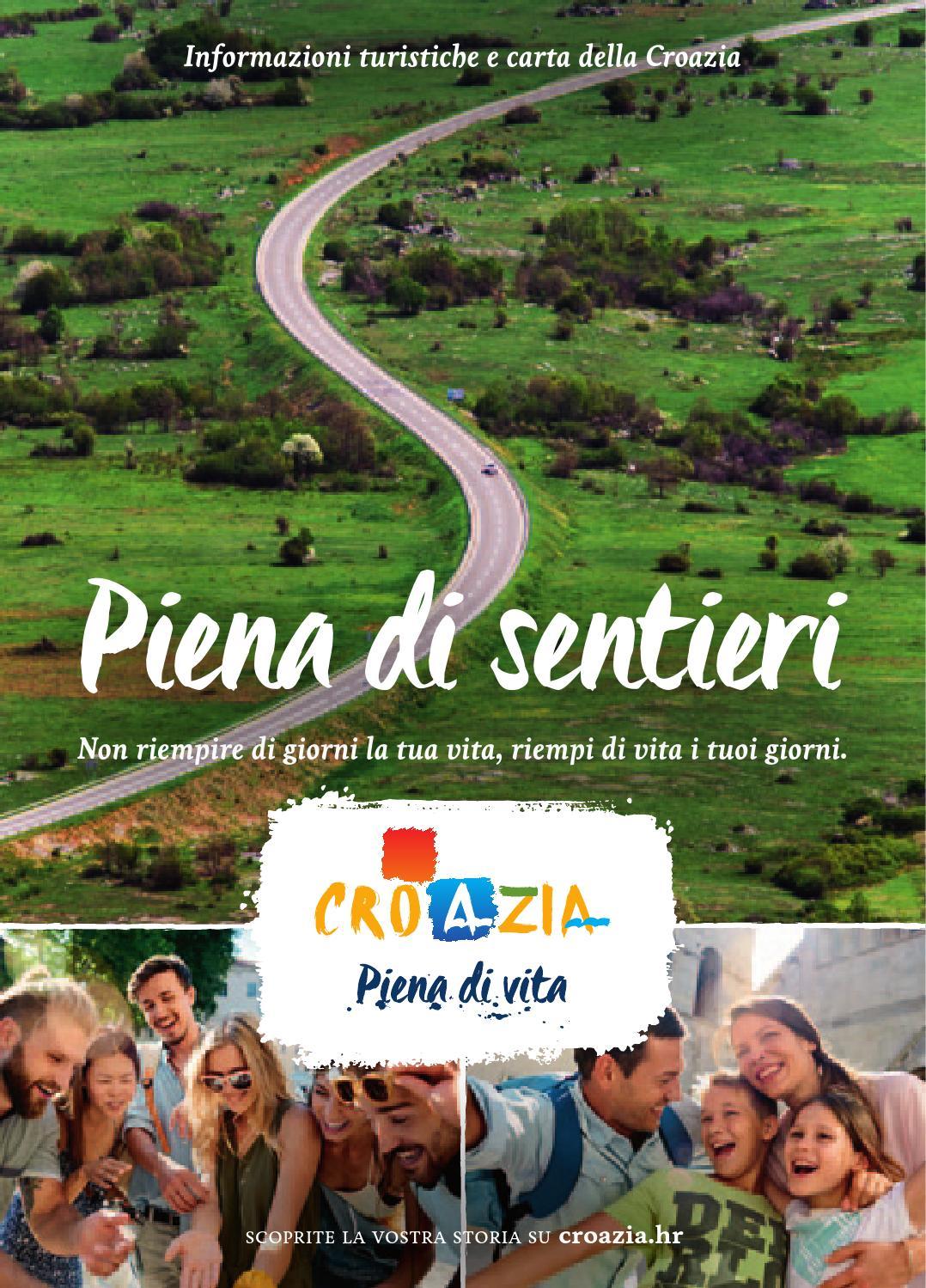Cartina Muta Della Croazia.Informazioni Turistiche E Carta Della Croazia 2016 It By Croatian National Tourist Board Issuu