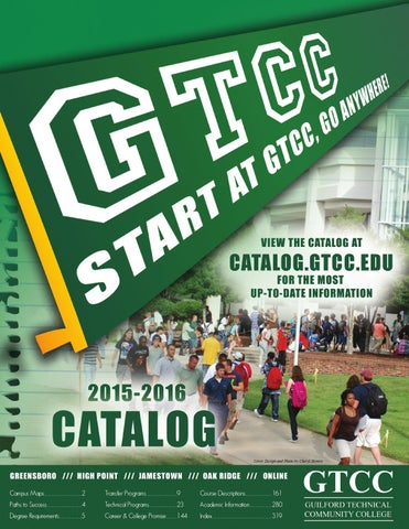 2015 2016 gtcc student catalog by guilford technical community page 1 fandeluxe Choice Image