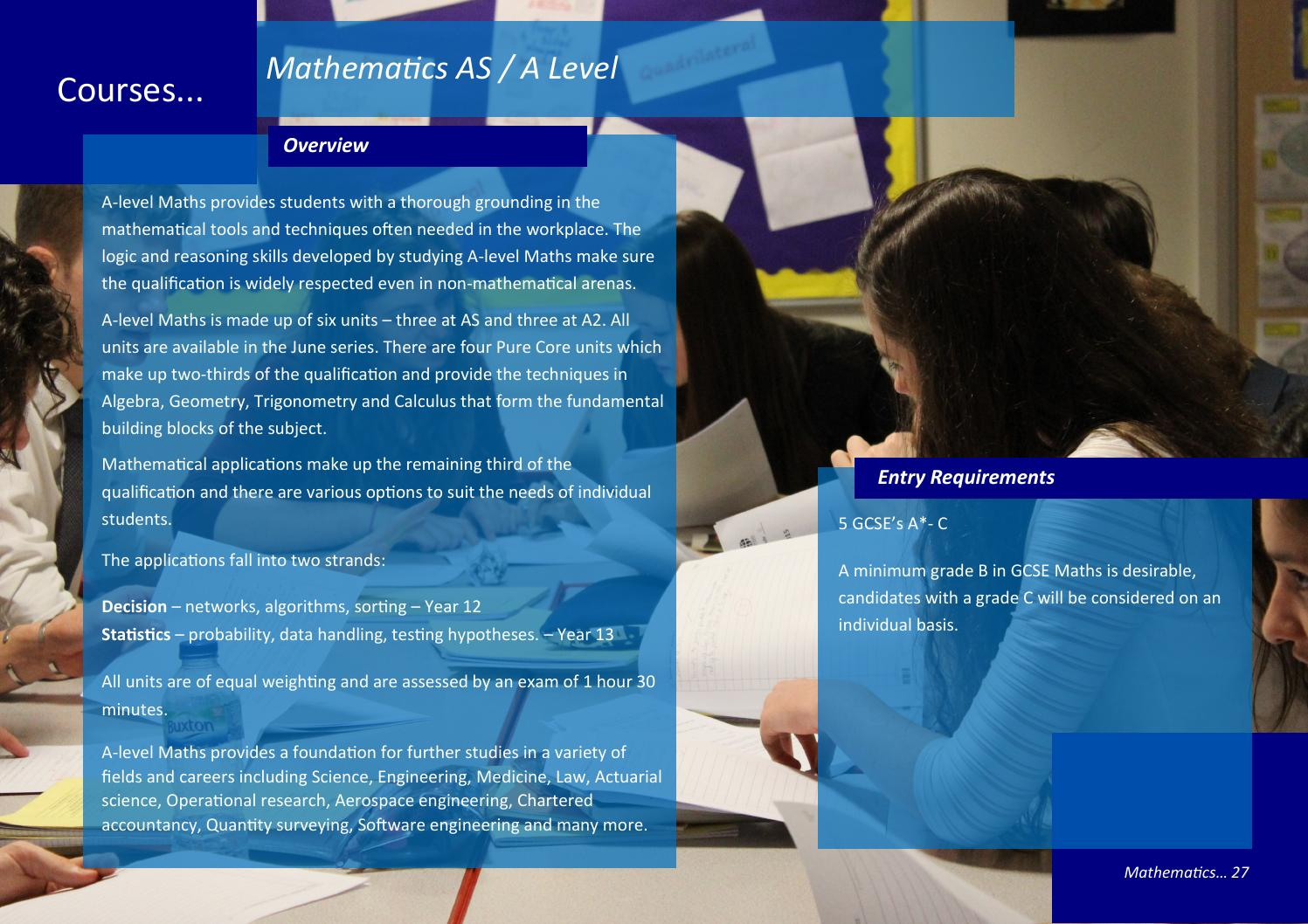 AHCC Sixth Form 2015-16 by All Hallows Catholic College - issuu