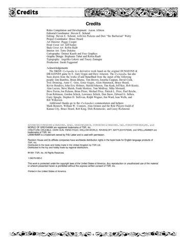 Dd Rules Cyclopedia By Mfrances73 Issuu