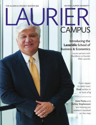 Winter 2015 Campus Magazine by Wilfrid Laurier University
