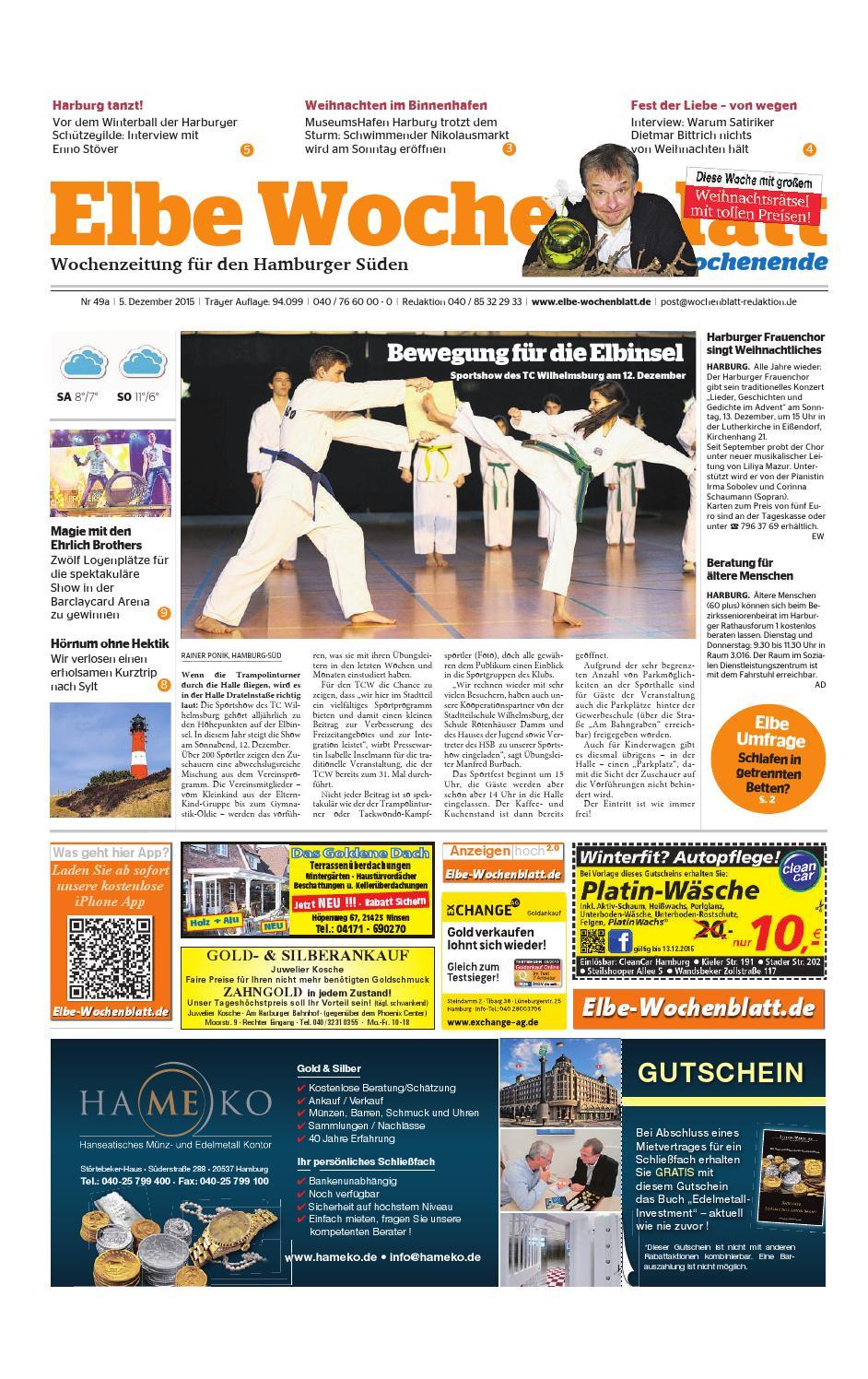 Wochenende KW49-2015 by Elbe Wochenblatt Verlagsgesellschaft mbH ...