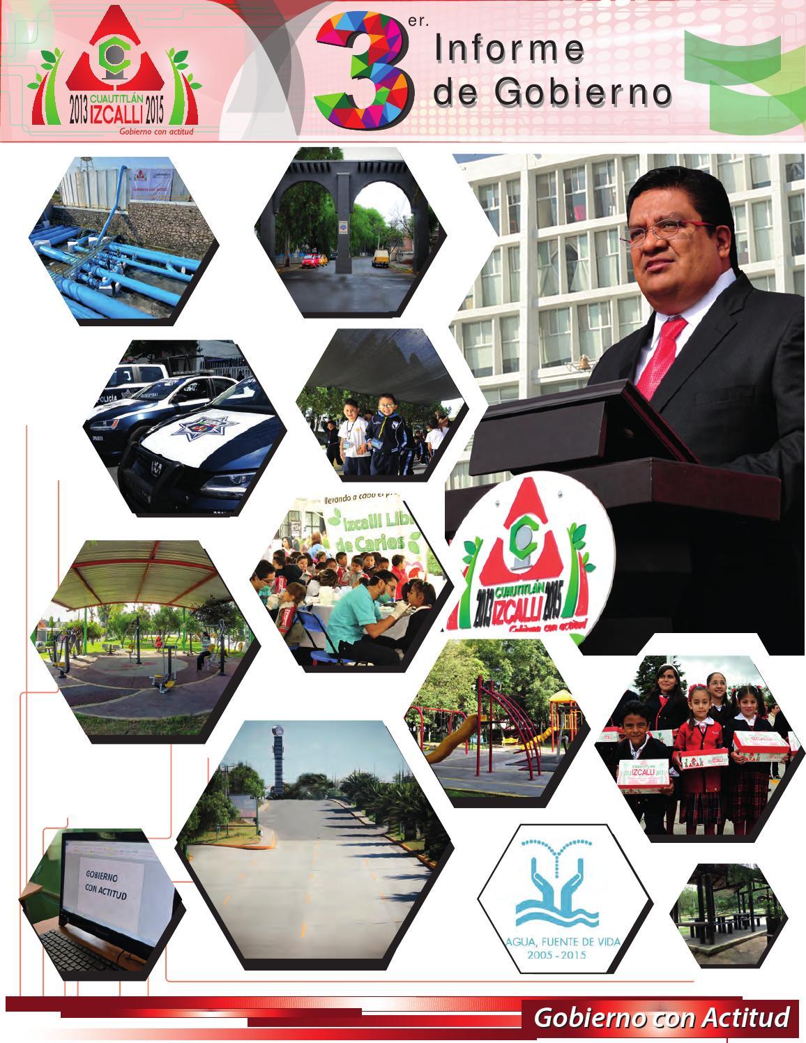 3er Informe De Gobierno De Cuautitlán Izcalli 2013 2015 By