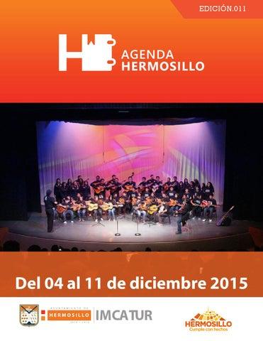 """Cover of """"Agenda Hermosillo del 04 al 11 de diciembre"""""""